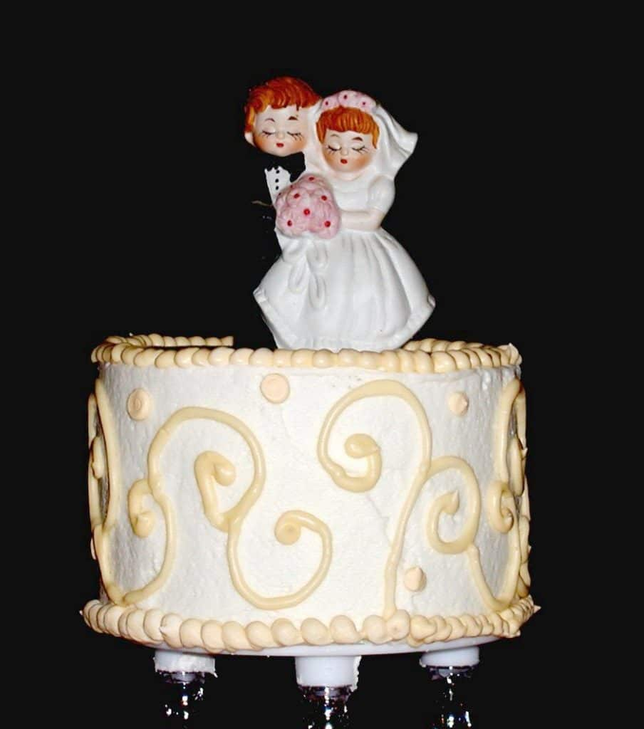 Borrowed Wedding Cake Topper