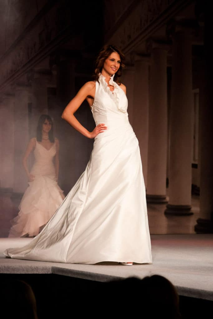 wedding gown wedding dress with detail at neckline