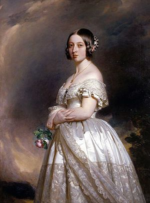 queen victoria - white wedding gown