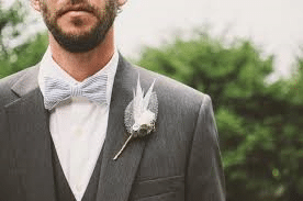 groom's wedding attire gray suit