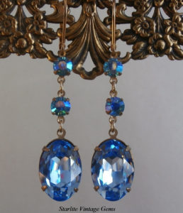 2017 Color Trends - blue swarovski crystal earrings