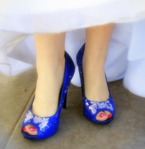 2017 Color Trends - blue wedding shoes