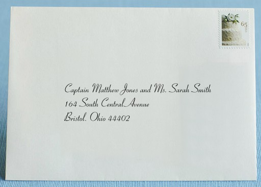 Addressing Wedding Invitations To Guests With Titles   Weddings From The  Heart   Dayton, Ohio